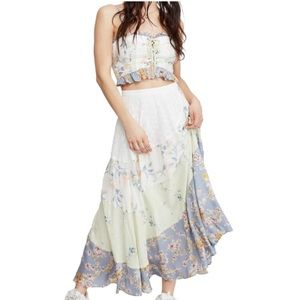 New! FREE PEOPLE - In The Flowers Two Piece Set